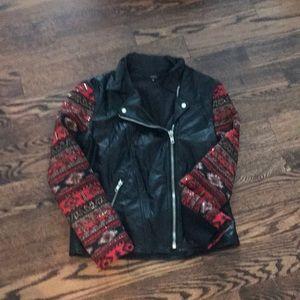 Millau Black Beaded Leather Jacket